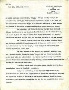 Press Release regarding Buslee crew on Mission 173, Page 1 of 4