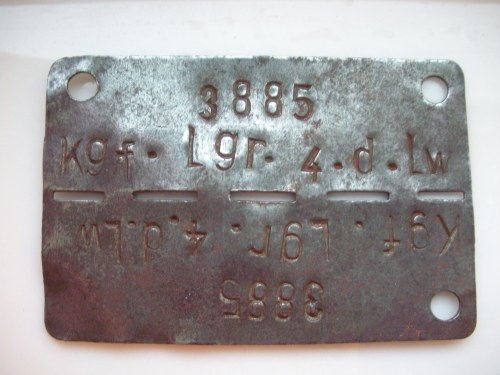George Edwin Farrar's POW ID Tag
