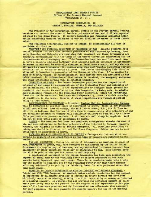 Page 1 of Information Circular No. 10
