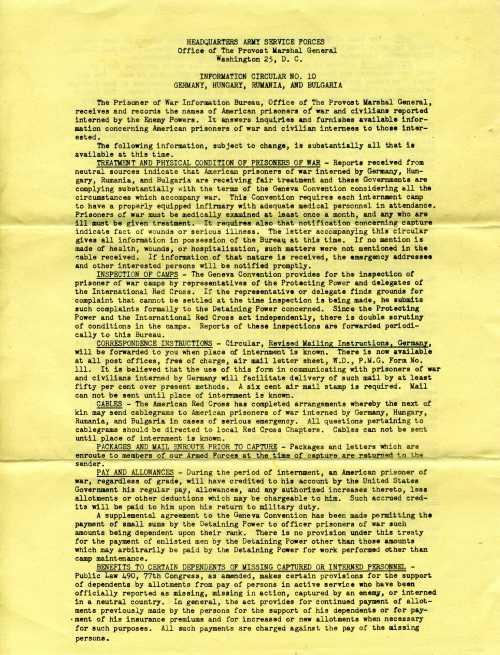 Page 1 of Information Circular No. 10