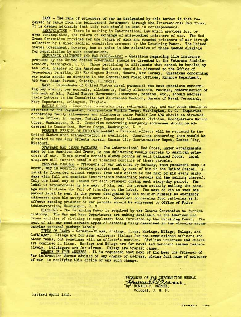 Page 2 of Information Circular No. 10