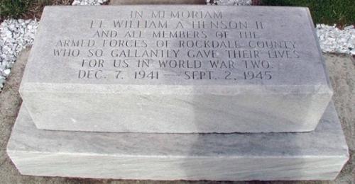 William Alvin Henson II Memorial, Conyers, Georgia