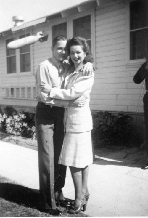 George Edwin Farrar with official United States Army Poster Girl Margie Stewart