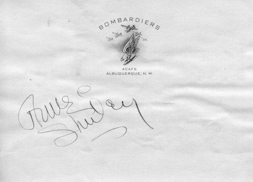 Movie Star Anne Shirley's Autograph