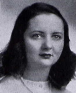 "Mary Elizabeth Clarke, Northwestern Illinois yearbook ""Syllabus"", 1943, Education School, Alpha Chi Omega"