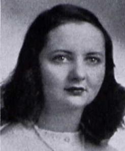 "Mary Elizabeth Clarke, Northwestern Illinois yearbook ""Syllabus"", 1943, Education School, Alpha Chi Omega"