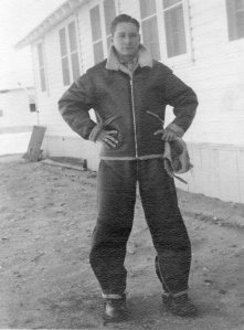 George Edwin Farrar, waist gunner on the John Oliver (Jay) Buslee crew, 544th Bomb Squad, 384th Bombardment Group, 8th Air Force in WWII