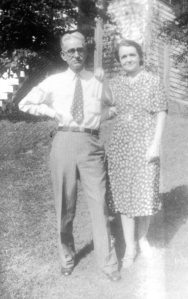Left to Right:  Carroll Johnson Farrar, Sr. and Raleigh Mae Farrar Date Unknown