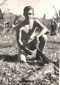 Harry Liniger worked at a Gator Farm in Ocala, FL after the war