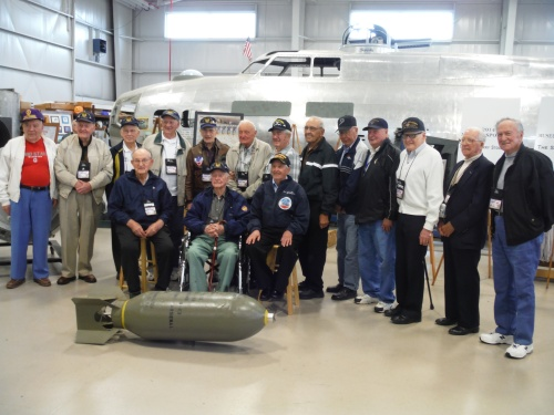 """2014 Reunion of 384th Bomb Group Veterans - Touring the New Build in Progress of B-17 """"Champagne Lady"""", Urbana, Ohio"""