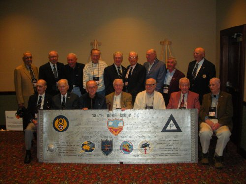 384th Bomb Group Veterans with the Commemorative Wing Panel at the 2014 Reunion in Dayton, Ohio