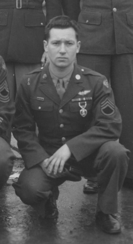 Eugene Lucynski received a Purple Heart on December 7, 1944.  Photo courtesy of www.384thbombgroup.com.