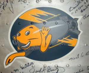 544th Bomb Squad Insignia from the 384th Bomb Group Wing Panel
