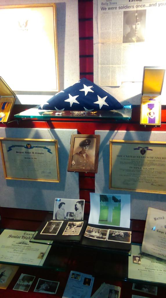 Robert Crumpton exhibit at the Van Zandt County Veterans Memorial in Canton, Texas