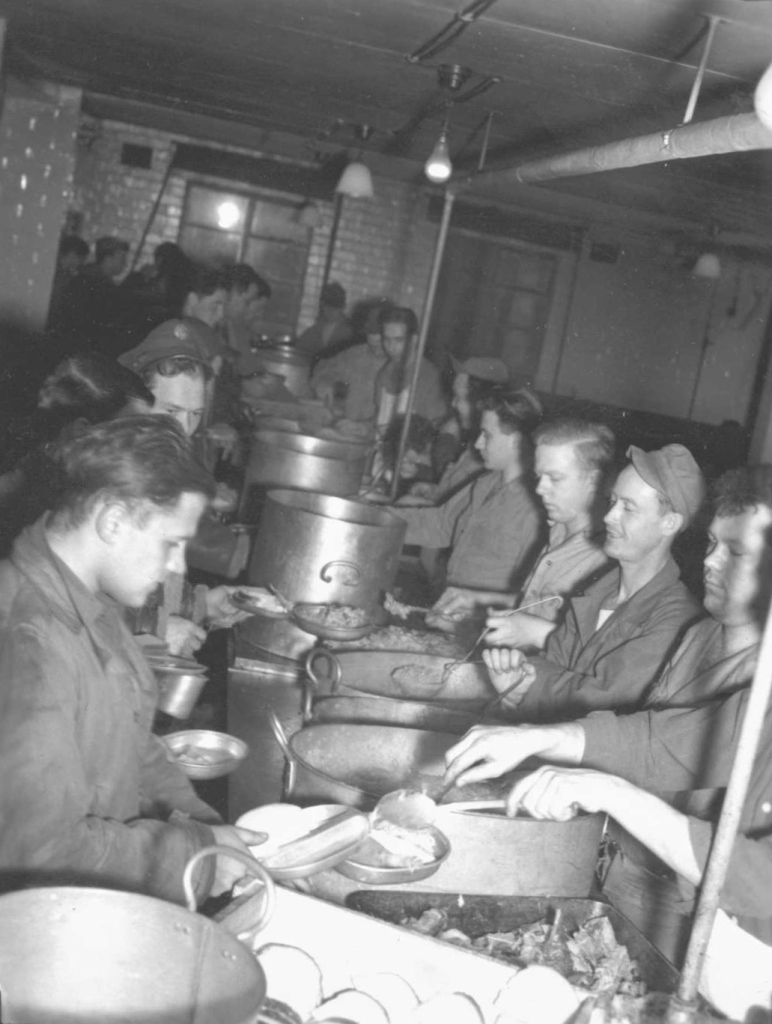 384th Bomb Group, Grafton Underwood, Enlisted Men's Mess Hall, Thanksgiving Day 1945