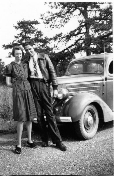 Janet Farrar with first husband Bob Hunt