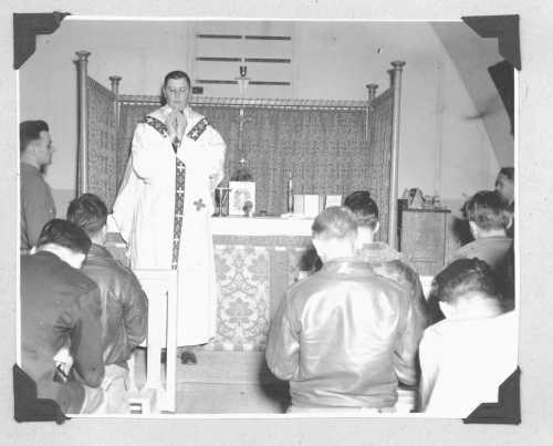 Chaplain Billy saying Mass