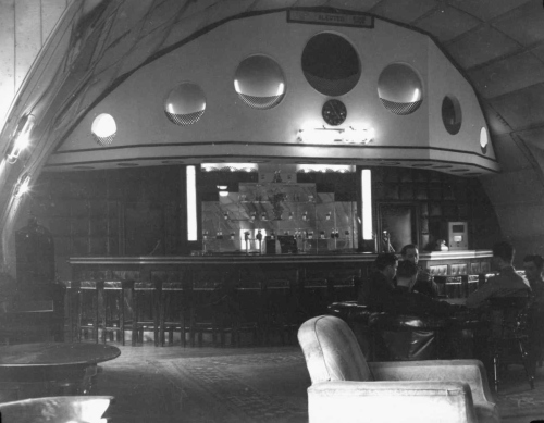 The bar of the 384th Bomb Group Officers' Club.