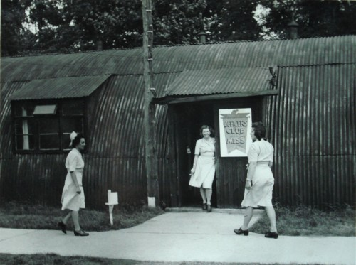 384th BG Officers' Mess and nurses.  Photo contributed by Anthony Plowright.