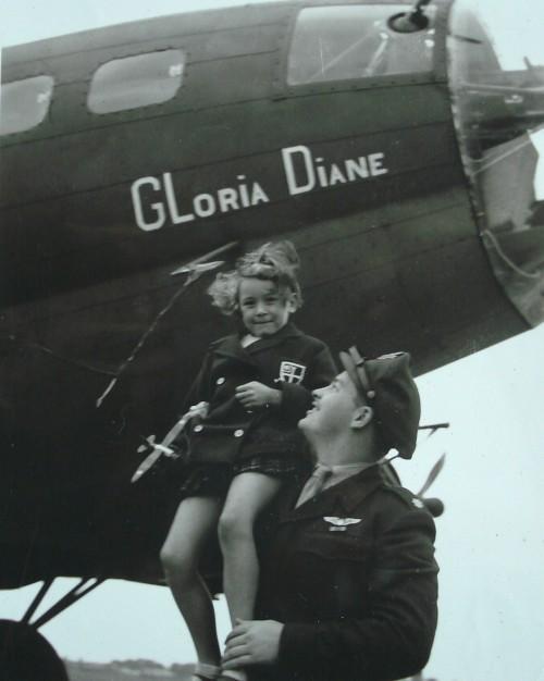 Gloria Diane and 545th Bomb Squadron Commander Raymond Paul Ketelsen