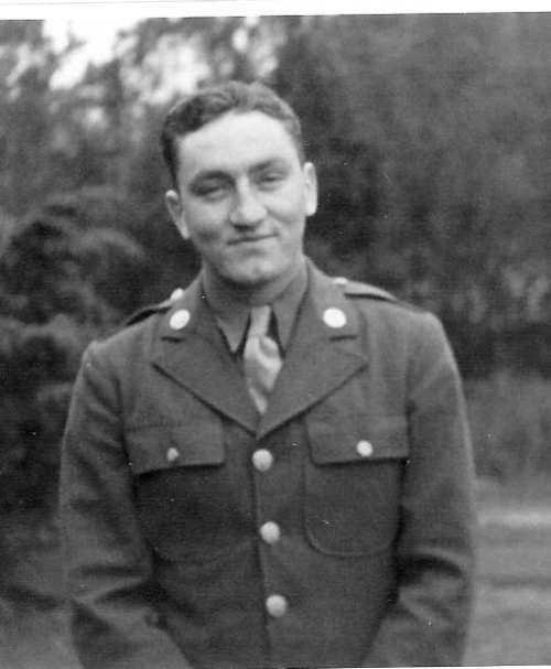 Paul Bureau in uniform during WWII