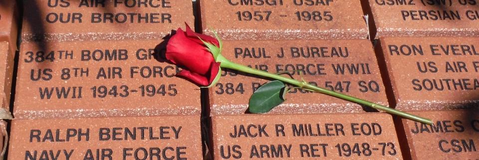 Memorial bricks at Ocala/Marion County Veterans Park