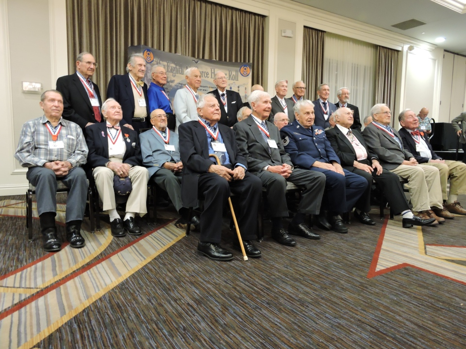 2016 8th AF Reunion Gala Dinner and Program in St. Louis, MO Veterans of the 8th AF in WWII who were awarded the French Legion of Honor