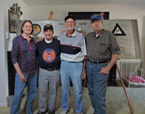 L to R: Cindy Farrar Bryan, John DeFrancesco, Fred Rubin, and Keith Ellefson